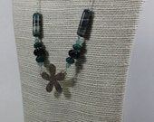 Whirled Peas Bead  - Necklace - Featuring flower from Kissing Dog Designs