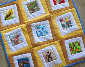 PICTURE THIS Mini Quilt from Quilts by Elena Wall Hanging