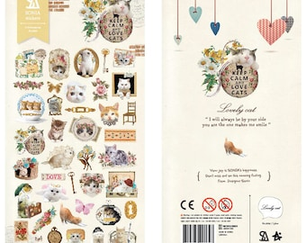 Paper Stickers (P185.21 - Lovely Cat)