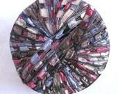Ladder Ribbon Yarn,  red blue jewel tones, ribbon yarn, trellis yarn, VICTORIA Maxi 81, patriotic