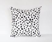Spotted Pillow Cover Black Pillow Dalmation Pillow Animal Print Pillow 8 Sizes Available Cushion Cover