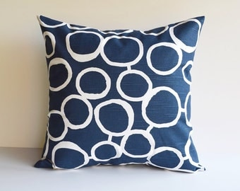 Pillow Cover Navy Blue Pillow Throw Pillows Decorative Pillow All Sizes