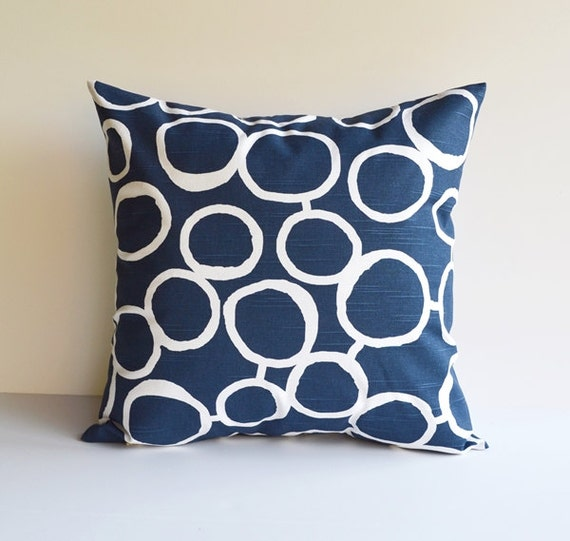 Items similar to Pillow Cover Navy Blue Pillow Throw Pillows Decorative Pillow All Sizes on Etsy