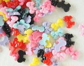 Assorted  9 Pairs (18 pcs)  Tiny Bow Cabochon (10mm14mm) BW148