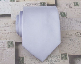 Mens Ties Necktie Pale Lavender Mens Tie With Matching Pocket Square Option