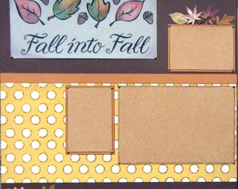 Clearance 12x12 Double Page Scrapbook Halloween Layout