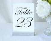 Table Number Holder + Silver Table Number Holder + Silver Wedding Table Number Holders (5inch)- Set of 20
