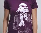 Storm Trooper Smarttrooper - American Apparel Womens t shirt   ( Star Wars / Storm trooper womens t shirt )