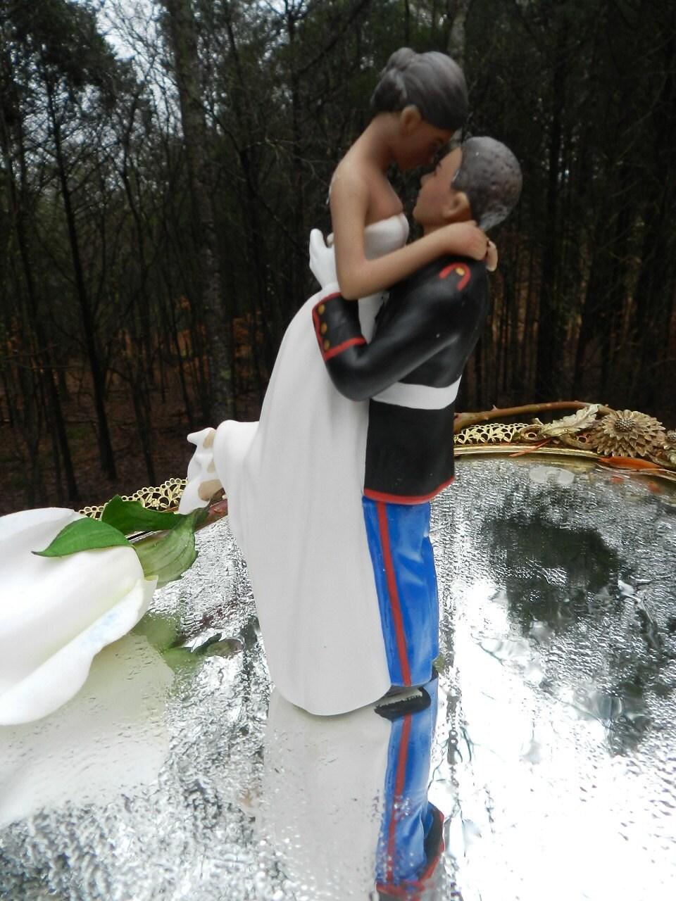 Ethnic Afro American black military USMC Marine corps Wedding Cake ...