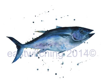 TUNA Print, tuna fish Art Print, nautical prints, coastal art
