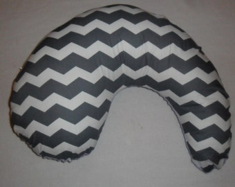 Gray Chevron Pillow Cover Fits Dr Brown's Gia Pillow