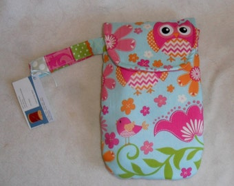 Girly Owl Chevron Diaper Clutch with Hand Strap CHOICE OF FABRIC