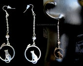 Cat and Mouse in the circle earrings Jewelry cat collection 2014