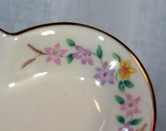 Lenox Gold Heart Dish gold trim Flowers