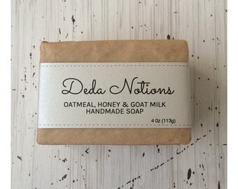 Oatmeal and Honey Goat Milk - OLIVE & SHEA BUTTER Soap - Cold Process Soap