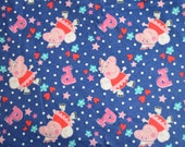 PEPPA PIG Brushed Flannel Fabric- Dark Blue Princess Fairy Peppa UK - 1 Yard Extra Wide