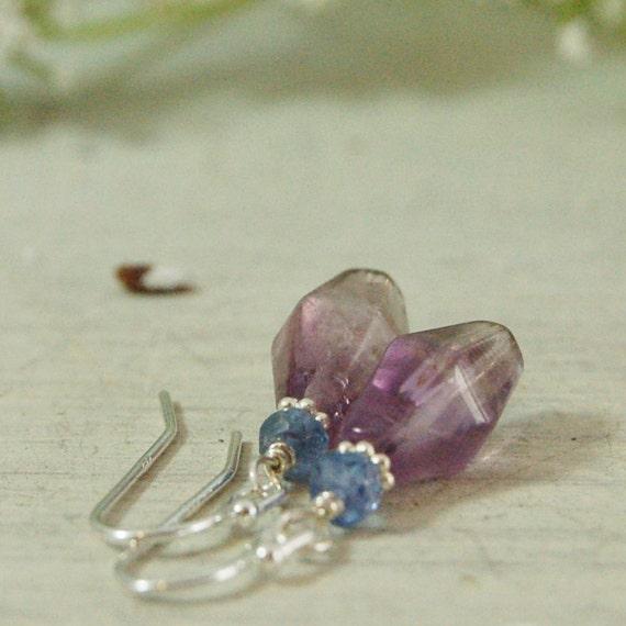 Lavender Tanzanite: Lavender Amethyst Tanzanite Earrings Purple Earrings Sterling