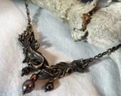 Prima Materia: River -- Bronze Pendant