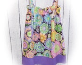Girls Spring Sun Dress in Floral Print