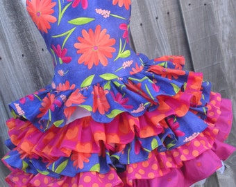 Made to Order Custom Boutique Heart Throb Purple Hot Pink Dress Girl  Sizes 2 3 4 5 6 7 8