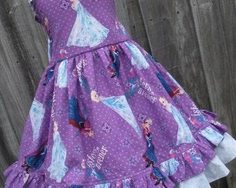 Made to Order Custom Boutique Disney Frozen Anna Elsa Girl Dress 2 3 4 5 6 7 8