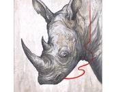 """Rhino 11""""x14"""" Print"""