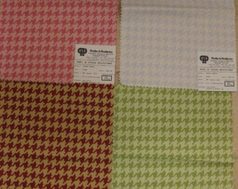 Pindler Mod Houndstooth Daria Pattern Fabric Samples LOT 4 pieces
