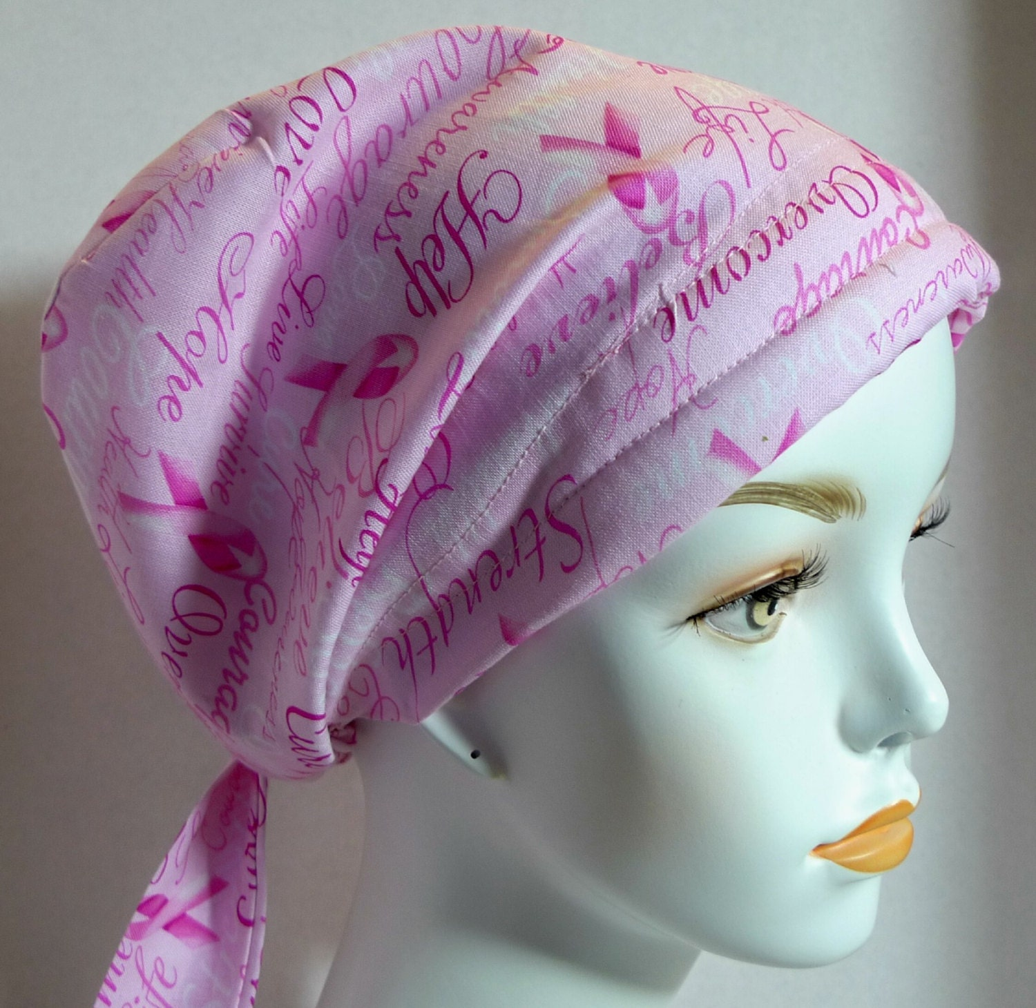 courage overcome cure believe breast cancer hat chemo pink