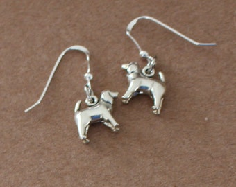 Earrings - Sterling Silver 3D SPANIEL DOG -  Pet