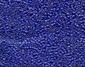 11/0 Miyuki Delica Matte Opaque Rainbow Dark Cobalt Blue Glass Seed Cylinder Beads 7.5 grams DB880