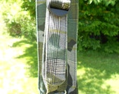 Green Camo/Plaid Print Water Bottle Carrier For Kids