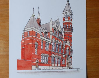 Holiday Sale // NYC Jefferson Market Library Print