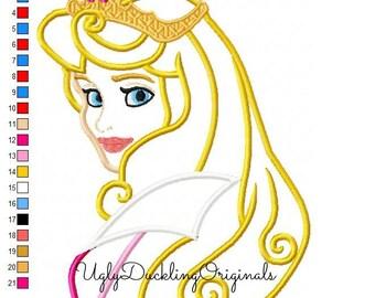 Aurora  Applique Design Sleeping Beauty Princess Machine Embroidery Digital Download