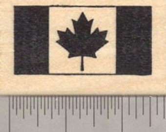 Flag of Canada Rubber Stamp D24317 Wood Mounted
