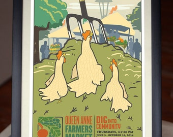2014 Queen Anne Farmer's Market -12x18 poster