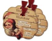 Santa Claus Telegram Tag, Santagram, Favor Bag Tags, Christmas tag, Fun Christmas Santa Tag, Dear Santa I Can ExplainTag, Stocking Tie Tag
