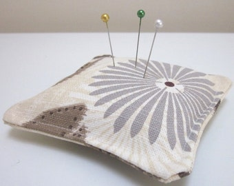 Floral Linen Square Pin Cushion