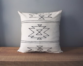 "18"" Organic Cotton Pillow - Southwest Collection - NEW MEXICO - housewares - decorative"