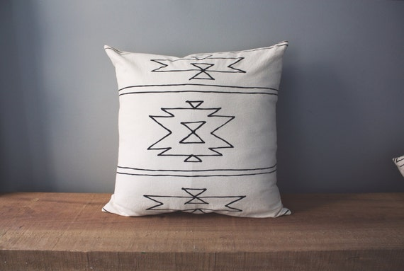Modern Southwest Pillow : 18 Organic Cotton Pillow Southwest Collection NEW