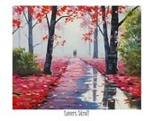 Painting print wall art prints from my Original Oil Painting Lovers Stroll