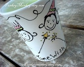 Set of 2 mugs you design custom pottery mug Mommy and me Daddy and me Best friends