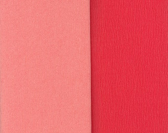 Gloria Doublette Double Sided Crepe Paper For Flower Making Made In Germany Salmon And Light Pink  #3309