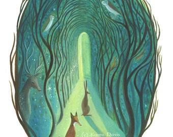 The Path. Archival Art Print.