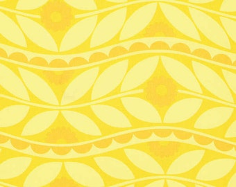 Jane Sassaman Brocade Yellow fabric 1 yard