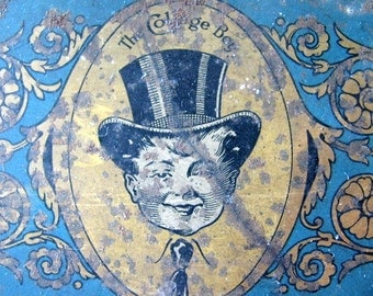 Vintage Top Hat Tin for Reuse Jewelry Making