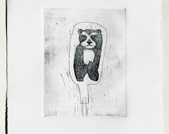 Bottled Panda Etching