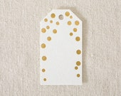 "Die-Cut Gift Tags - ""Gold Dots"" Bamboo paper, FT-01"