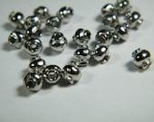 100 small lantern beads, shiny Tibetan Silver