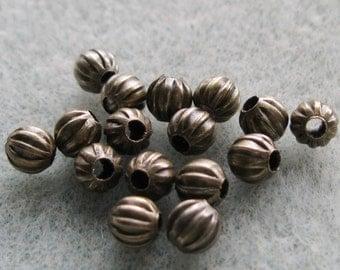 Antique Bronze Pumpkin 5mm Spacer Beads 806