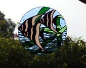 Angel Fish Stained Glass Suncatcher